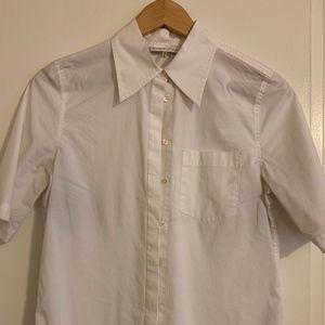 Trina Turk short sleeve white blouse size: Small